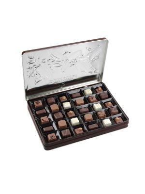 Ciocolata frantuzeasca asortata ambalata in cutie metalica, 300gr