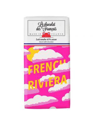 French Riviera. Ciocolata cu lapte 41%, BIO, 80 gr