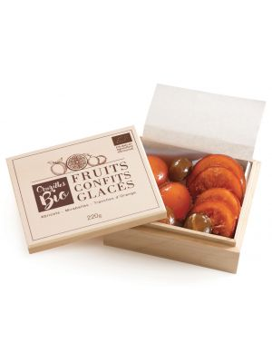 Fructe confiate BIO, in cutie de lemn, Cruzilles, 220gr