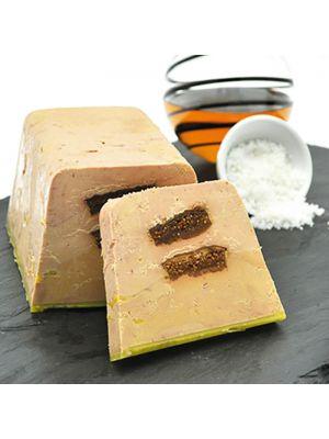 Foie gras de rata intreg, cu semi-gatit cu smochine, 330g