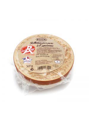 Rillettes traditional de porc LPF Label Rouge, 500g
