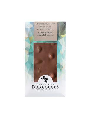 Tableta de ciocolata cu lapte si fructe uscate, 130gr