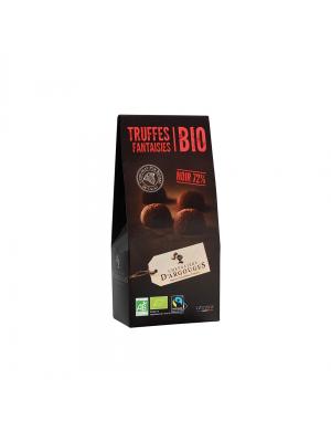 Trufe cu ciocolata neagra 72% BIO, 160gr, Chevaliers d'Argouges