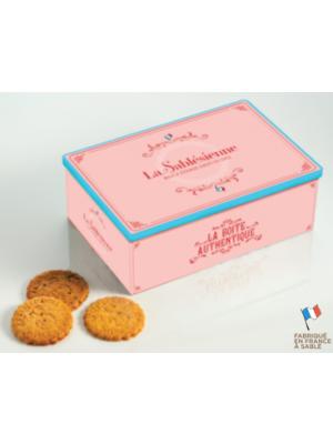 Biscuiti frantuzesti in Cutie metalica Authentique,  La Sablesienne