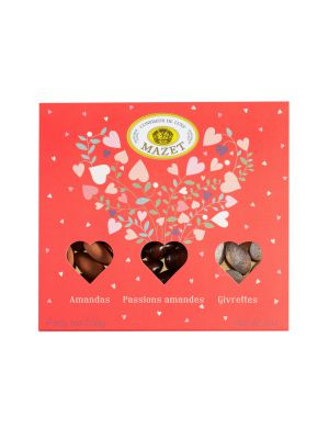 Cutie cadou 'Bonnes choses' bomboane de migdale invelite cu ciocolata, Mazet, 200gr