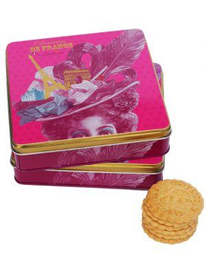 Biscuiti frantuzesti in cutie cadou TASSE, La Sablesienne