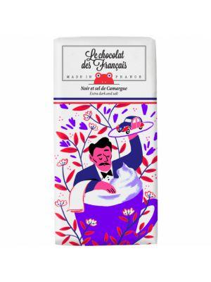 La tasse de café. Ciocolata Neagra 71% cu sare din Camargue, BIO, 80 gr